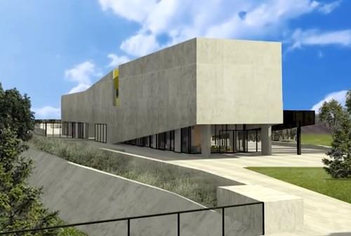 Render de la nueva biblioteca pública en El pozo, Mendoza. Foto